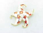 Vintage Costume Jewelry - Boucher Enamel Starfish Brooch Numbered 8685p