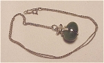 Elka Sterling Silver Necklace With Jade Egg Pendant