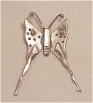 Unique Handmade Butterfly Brooch - Possibly Sterling Silver
