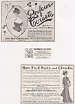 3 Assorted Vintage Womens Clothing Ads, Circa 1900, Corsets, Suits, Cloaks
