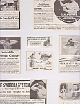 8 Assorted Ads, Circa 1900, Coke Dandruff, Sulphume, Hairpins, Wheel Chairs