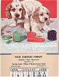 1958 Young Hardware Co. Advertising Calendar