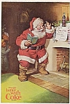 1963 Coke Christmas Advertisement With Santa Claus