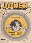 February 1959 Issue Of Joker Men's Magazine W/ Pin Up Photos & Risque Comics