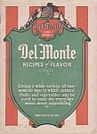 Del Monte Recipes Of Flavor Cookbook, Food Advertising