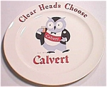 Calvert Advertising Plate With Owl Mascot