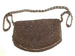 Black Fringed, Beaded & Sequined Evening Bag Purse