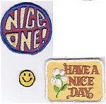 Set Of 3 Vintage Mod Sew-on Patches