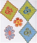 Set Of 5 Vintage Flower Sew-on Patches