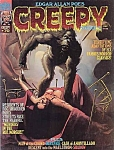 Creepy Magazine #70 , Comic Book , 1975, Ken Kelly Cover Art, Edgar Allan Poe