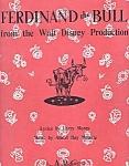 Walt Disney's Ferdinand The Bull, Sheet Music, 1938