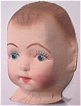 Vintage Cloth Doll Face For Doll Making - Hand Painted
