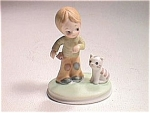Miniature Lefton Little Girl Bisque Figurine