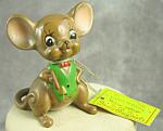 Josef Originals Proud Papa Mouse Figurine With Hangtag Japan, Mice