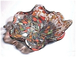 Murano Glass Leaf Shaped Dish Art Glass