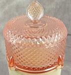 New Martinsville Glass Judy Puff / Powder Jar Pink Depression Glass