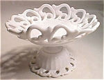 Fostoria Monroe Milk Glass Footed Compote - Large