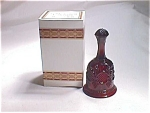 Avon Ruby Glass Hostess Bell 1876 Cape Cod Collection