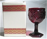 Avon Ruby Glass Water Goblet, 1876 Cape Cod Collection