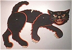 Vintage Halloween Jointed Black Cat Diecut Cardboard Decoration
