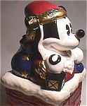 Mickey Mouse Santa Ceramic Cookie Jar Mint In Box
