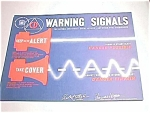 1954-1962 Civil Defense Warning Signals Instructional Sign