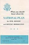 1958 National Plan For Nuclear War Pamphlet