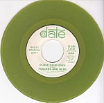 Peaches And Herb, Close Your Eyes, 45 Rpm Radio Promo Record, Green Vinyl