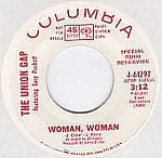 The Union Gap Featuring Gary Puckett, Woman, Woman 45rpm Promo Record