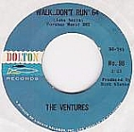 The Ventures, Walk Don't Run '64 B/w The Cruel Sea, 45rpm Record, 1964