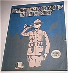 Oh How I Hate To Get Up In The Morning, Irving Berlin Sheet Music, Barbelle