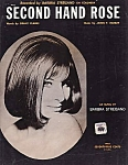 Barbra Streisand, Second Hand Rose, 1965 Sheet Music