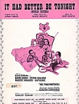 It Had Better Be Tonight, Pink Panther Sheet Music, Peter Sellers, David Niven