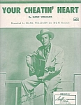 Hank Williams, Your Cheatin' Heart, 1952 Sheet Music