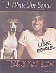 Barry Manilow, I Write The Songs, Sheet Music, 1975