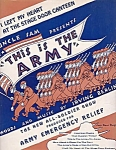 I Left My Heart At The Stage Door Canteen, 1942 This Is The Army Sheet Music