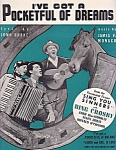 I've Got A Pocketful Of Dreams, 1938 Sheet Music, Sing You Sinners, Bing Crosby
