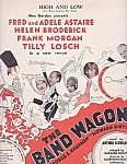 Fred & Adele Astaire, High And Low, Sheet Music, The Band Wagon, Frank Morgan