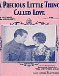 A Precious Little Thing Called Love, Sheet Music, Gary Cooper, Shopworn Angel