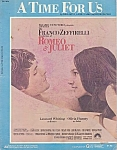 A Time For Us, Sheet Music, Olivia Hussey, Romeo & Juliet, 1968