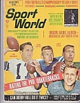 Sport World Magazine, Dec. 1967, Hank Aaron, Mickey Mantle, Willie Mays