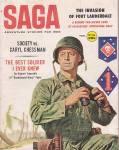 Saga, Adventure Stories For Men, Pulp Digest Magazine, 1960