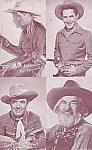 1940s Cowboy Vending Machine Arcade Card, Gabby Hayes, Bob Steele, Ken Maynard