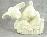 Vintage Haeger Lamb Planter - Heavy Matte White Ceramic