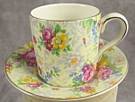 Lord Nelson English Chintz Demitasse Set Rose Time
