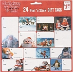 Rankin Bass Santa Claus Is Comin' To Town Gift Tags Christmas
