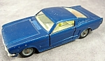 1966 Corgi Ford Mustang 2 + 2 Fastback Diecast Car No. 320 Dark Blue