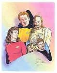 Star Trek, Next Generation, Original Print Signed By Local N.j. Artist