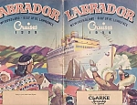 1939 Clarke Steamship Labrador Cruises Deck Plans, Illust. By Ted Harris