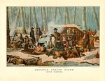 Currier And Ives Maple Sugaring